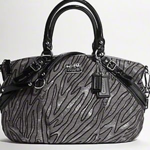 Coach Madison Lurex Zebra Sophia Satchel B0ag